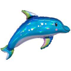 А 29 Фигура Дельфин Перламутр / Iridescent Blue Dolphin P40 / 1 шт /