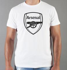 Футболка с принтом FC Arsenal (ФК Арсенал) белая 0011