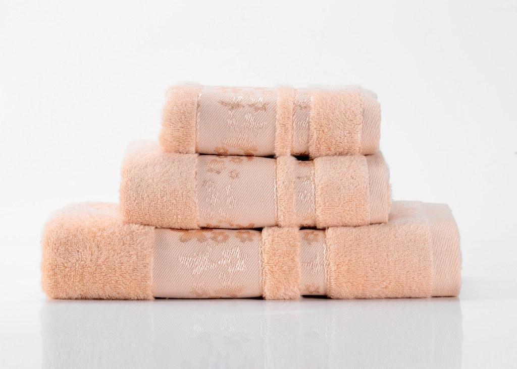 Полотенца Emily-4  персиковое махровое  полотенце Valtery emily-4-polotentse-bannoe.jpg
