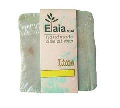 Греческое мыло ручной работы Лайм Elaia spa 100 гр