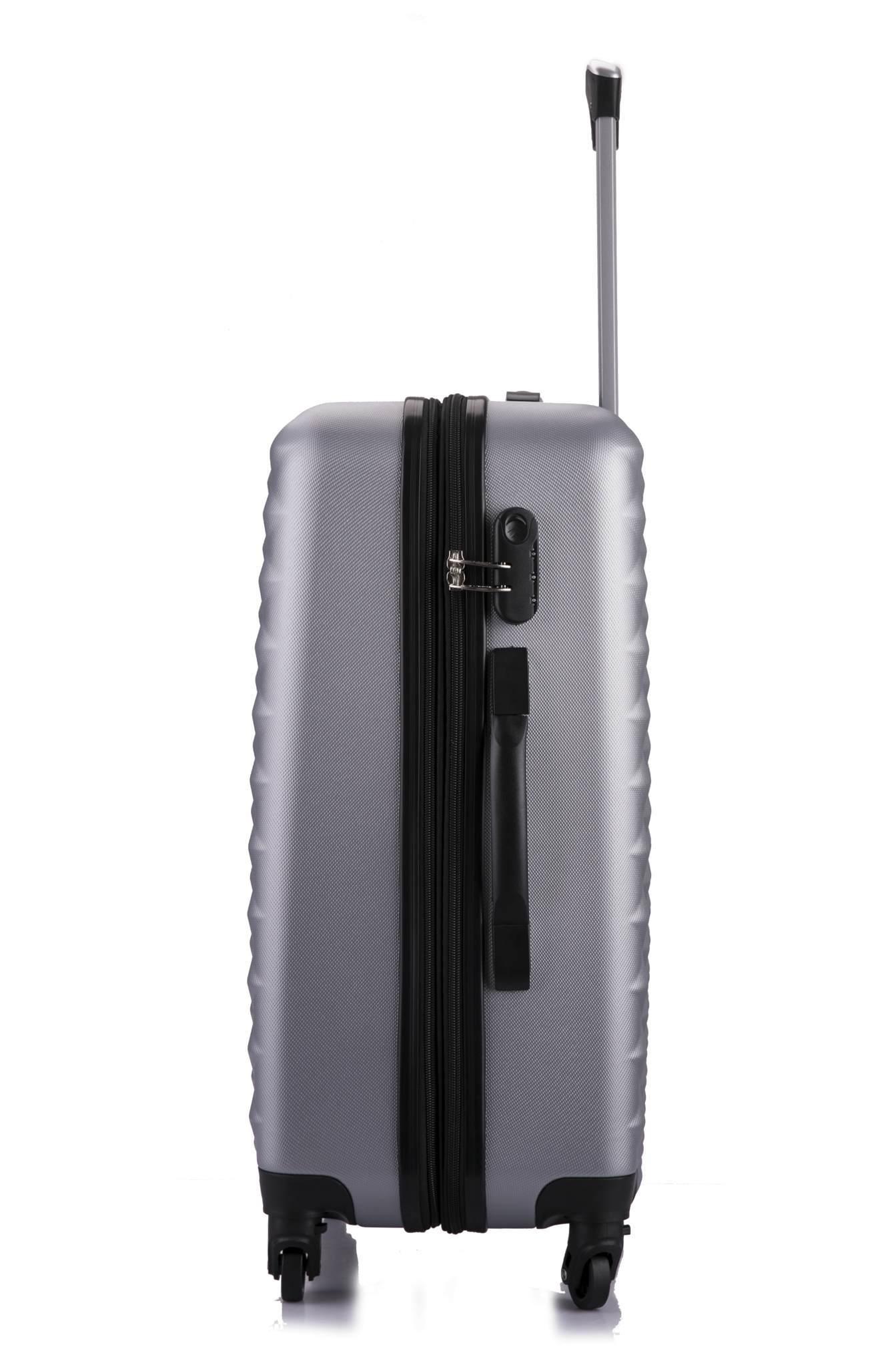 Чемодан с расширением L'case Phatthaya-20 Серебро ручная кладь (S)