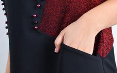 Афина. Стильное платье plus size. Красный.
