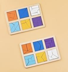 Логическая игра Сложи квадрат Б.П. Никитин уровень 3