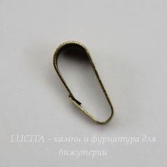Винтажный декоративный элемент - бейл 10х4 мм (оксид латуни)