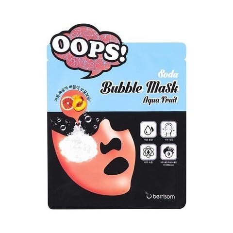 Berrisom Soda Маска-пилинг для увлажнения Soda Bubble Mask_Aqua Fruit 18мл