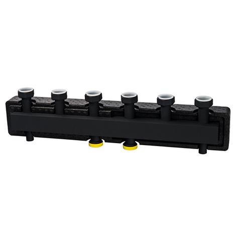 Коллектор котельной разводки STOUT - Ду25 на 6 контуров (в теплоизоляции)
