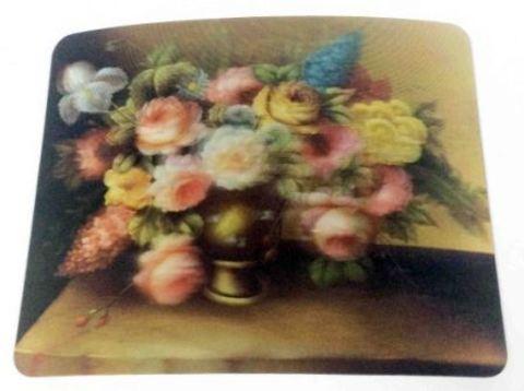 Коврик 3D Цветы в вазе 235х185х4мм