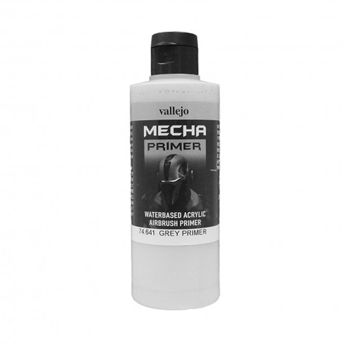 Грунты 74641 Watebased Acrylic Airbrush Primer акриловый грунт, серый (Grey), 200 мл Acrylicos Vallejo 74641.jpg