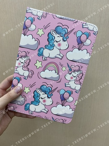 Чехол Slim Case iPad mini 1/2/3/4/5 /Unicorns Pink/