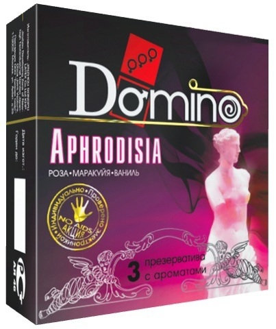 Ароматизированные презервативы Domino Aphrodisia - 3 шт.