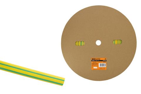 Термоусаживаемая трубка ТУТнг 14/7 желто-зеленая (100 м/ролл) TDM