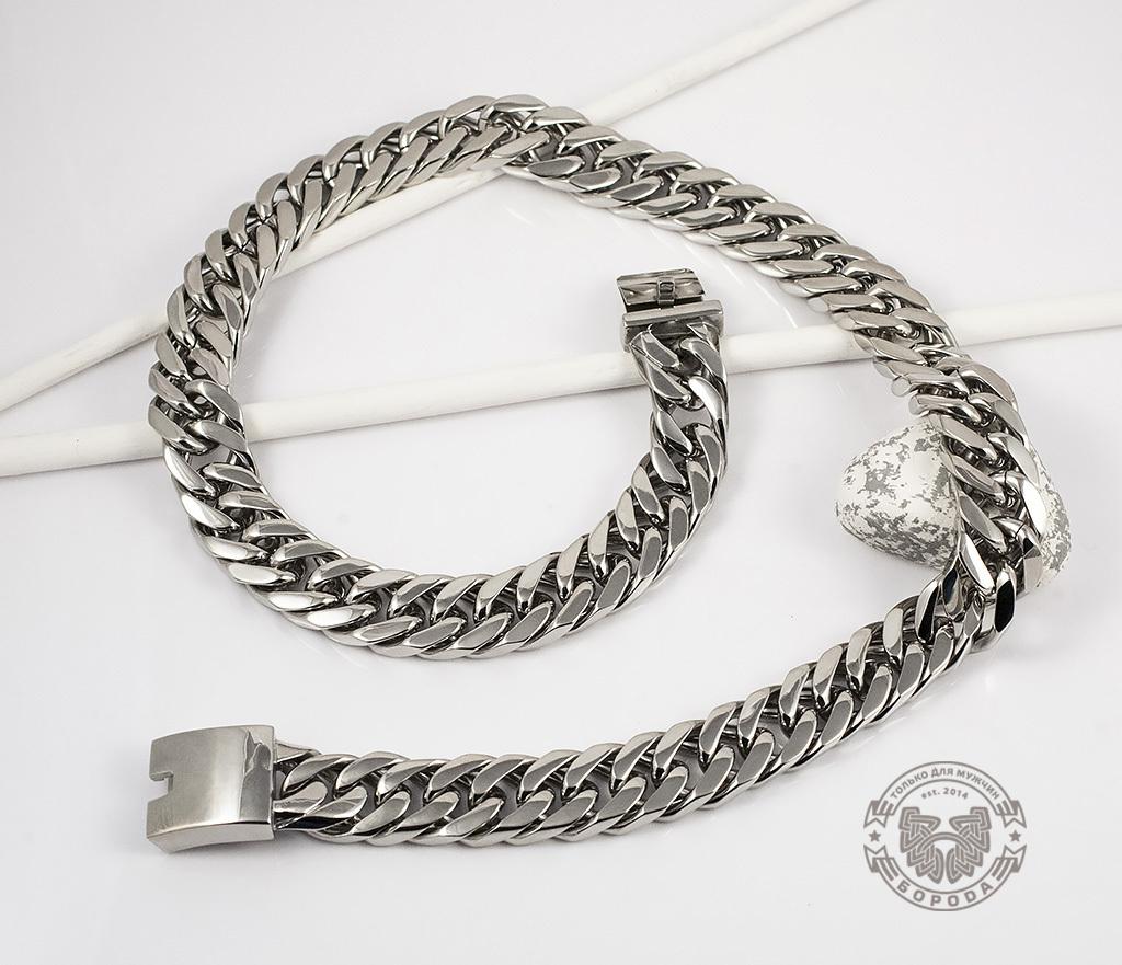 PM201 Широкая, массивная цепь из ювелирной стали (60 см)