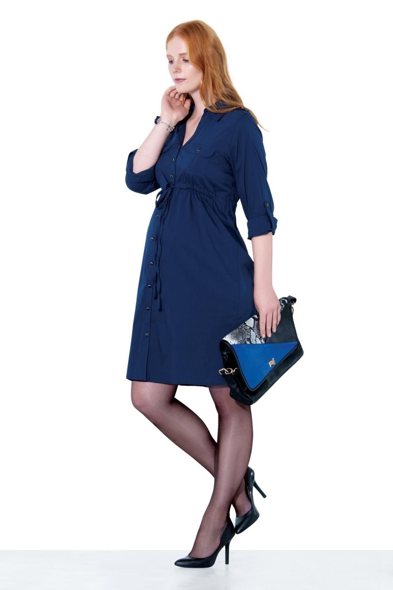 Фото платье для беременных EBRU от магазина СкороМама, синий, размеры.