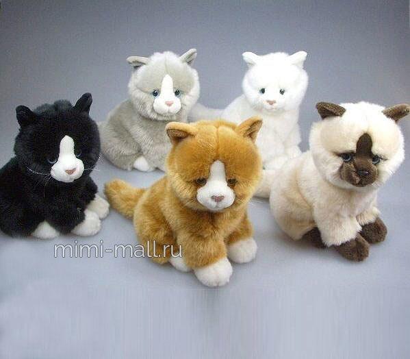 Мягкая игрушка Котята сидящие 19 см (Leosco)