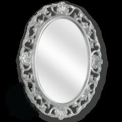 Зеркало овальное ажурное Migliore ML.COM-70.703 (80x58x4) серебро