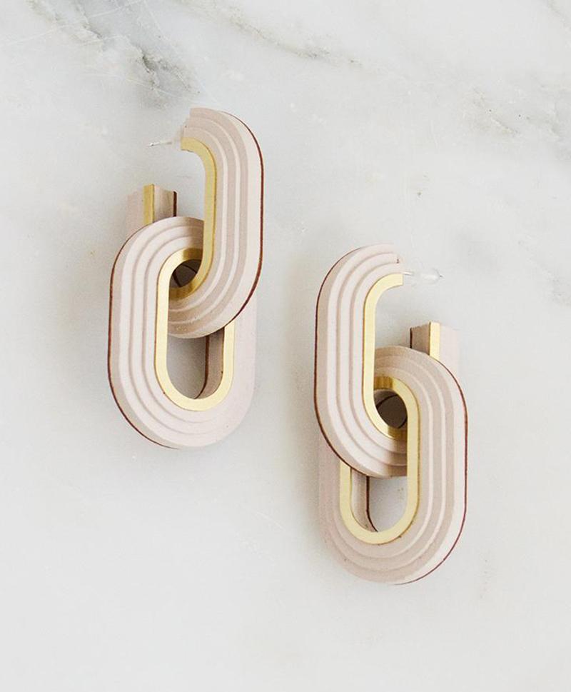 Серьги Mirage Hoop Earrings Ecru