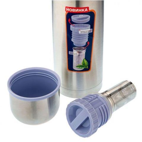 Термос Biostal (0,75 литра) пробка с ситечком, стальной