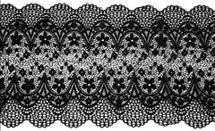 Эластичное кружево, 20 см, черный, (Арт: EK-1063), м