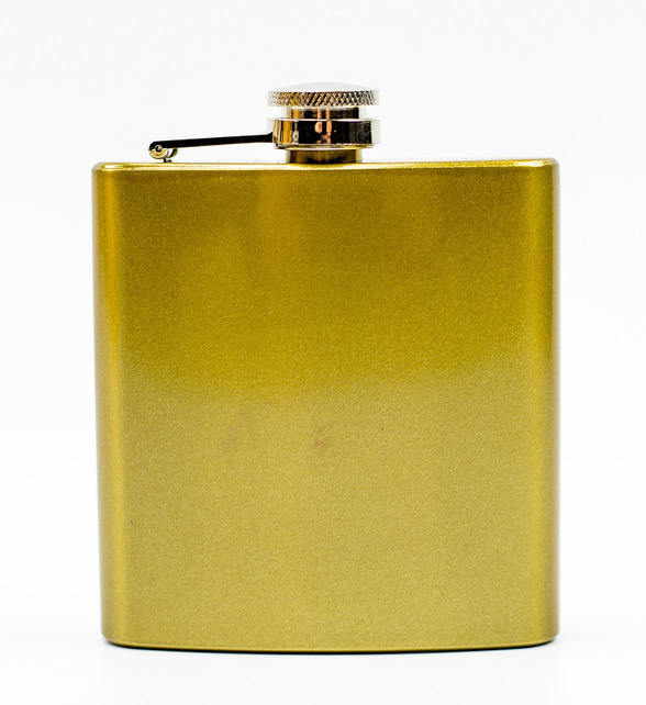Фляжка Карманная, желтая фляжка бутылка с карабином 350 мл