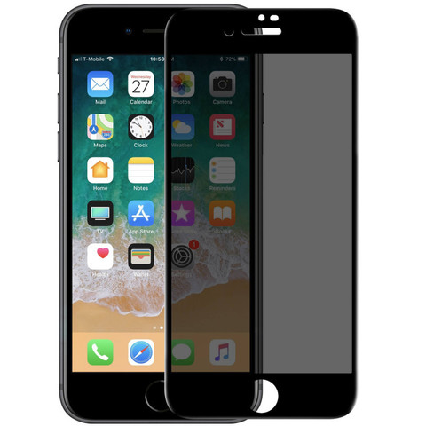 Стекло защитное iPhone 6/6S 2,5D Black Privacy Антишпион
