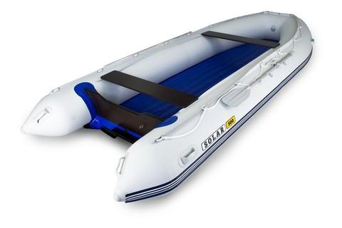 Надувная ПВХ-лодка Солар - 500 Jet Tunnel (светло-серый)