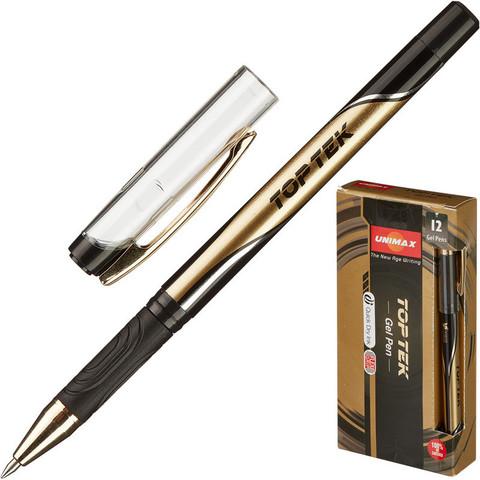 Ручка гелевая Unimax Top Tek черная (толщина линии 0.5 мм)
