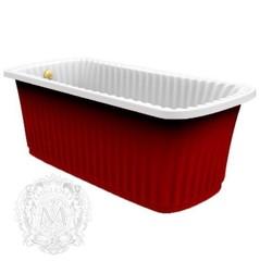 Ванна Migliore Olivia Panello 24265 174x83хH66 см. белая, панель красная