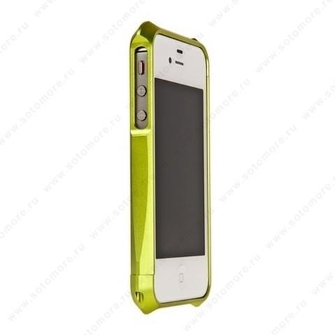 Бампер Deff CLEAVE 2 алюминиевый для iPhone 4s/ 4 салатовый