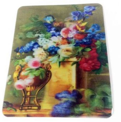 Коврик 3D Цветы, ваза, колонна 235х185х4мм