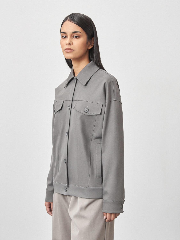 Куртка-тракер Сиэтл с карманами, Серый