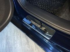 Накладки на пороги Mazda 3 (с 2013 г.в.)