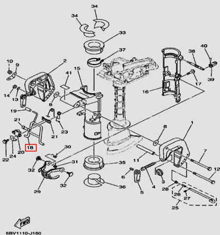 Рычаг фиксации наклона для лодочного мотора F5 Sea-PRO(16-18)