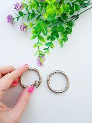 Карабин-кольцо серебро, d 35