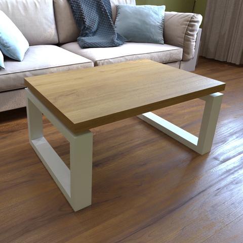 Журнальный столик в скандинавском стиле из натурального дуба