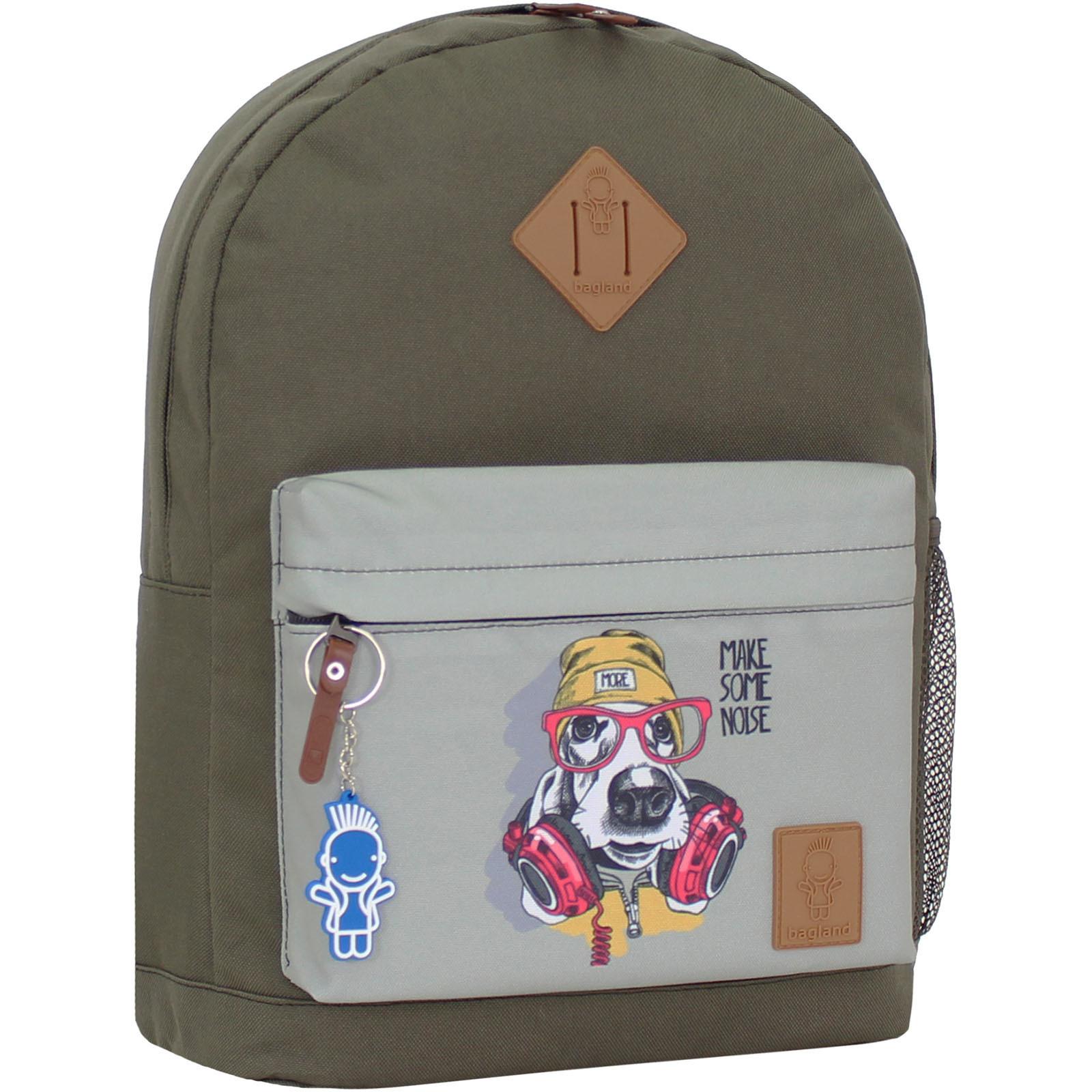 Городские рюкзаки Рюкзак Bagland Молодежный W/R 17 л. хаки 202к (00533662) IMG_1037_202к.JPG