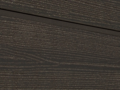 Cайдинг из ДПК. Радиальный распил. Цвет темно-коричневый.