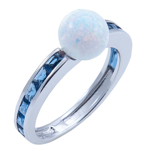 Кольцо из серебра с опалом Арт.1084ок сапф