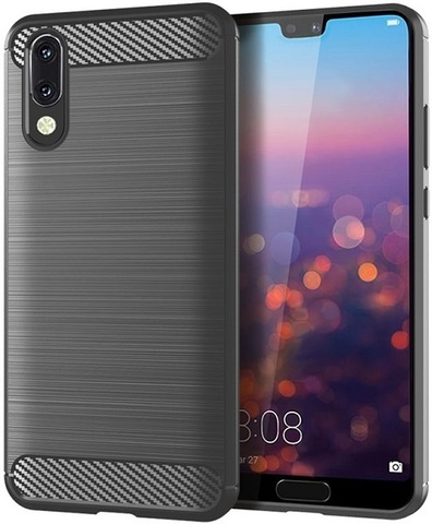 Чехол Huawei P20 цвет Gray (серый), серия Carbon, Caseport