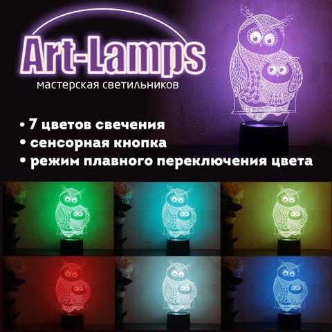 Светильник-ночник с вашим логотипом (на заказ)