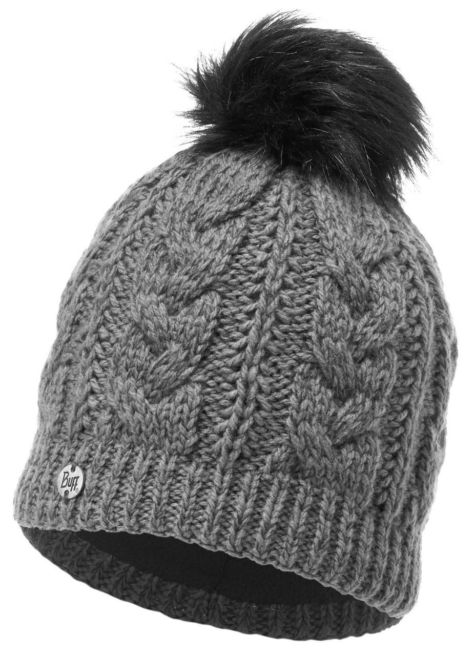 Шапки крупной вязки Вязаная шапка с флисовой подкладкой Buff Darla Grey Pewter 116044.906.10.00.jpg