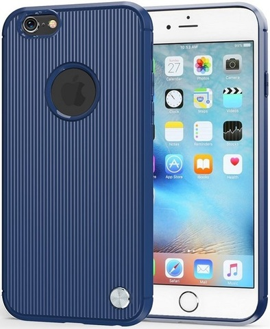 Чехол iPhone 6 Plus (iPhone 6S Plus) цвет Blue (синий), серия Bevel, Caseport