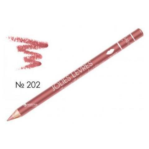 Карандаш для губ темно-розовый холодный №202 Vivienne Sabo JOLIES LEVRES