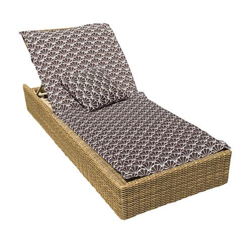 Подушка на шезлонг Гарден коричневый уличная коллекция