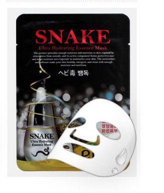 Тканевая маска с экстрактом змеиного яда EKEL SNAKE ULTRA HYDRATING ESSENCE MASK