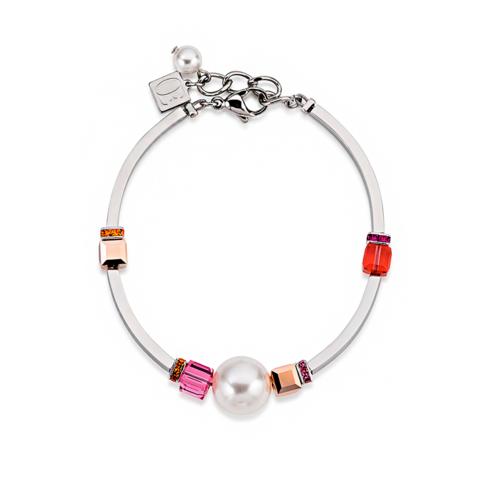 Браслет Coeur de Lion 4803/30-0400 цвет белый, розовый