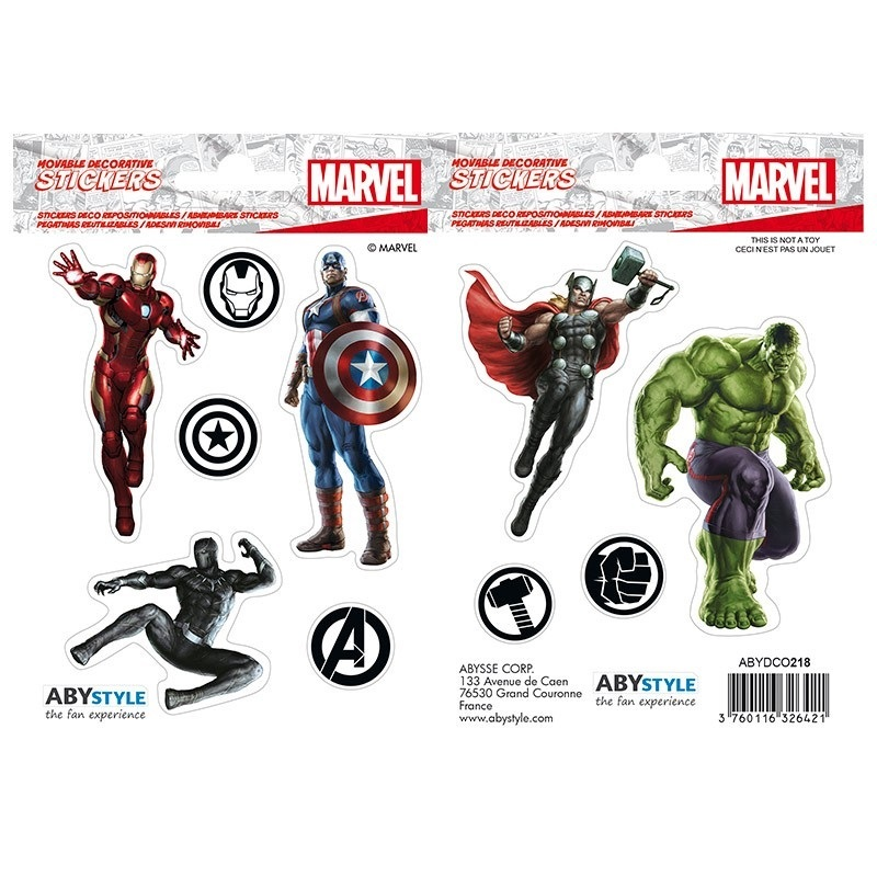 Наклейки ABYstyle: MARVEL :Stickers: 16x11cm/ 2 sheets: Avengers X5 ABYDCO417