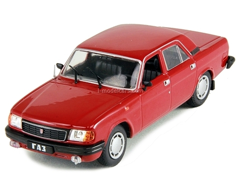 GAZ-31029 Volga dark red 1:43 DeAgostini Auto Legends USSR #104