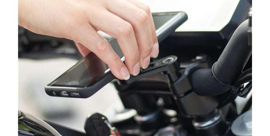Крепление на вынос руля мотоцикла для SP Connect SP BAR CLAMP MOUNT с телефоном