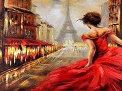 Картина раскраска по номерам 30x40 Побег в париже