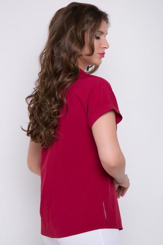 <p>Современная блузка на каждый день. Ворот отложной. Рукав реглан с манжетом.Длина изделия/ширина рукава - 44-52=63-66см./36-43см.</p>